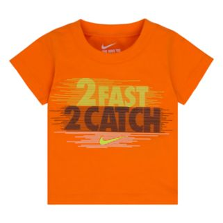 """Baby Boy Nike """"2 Fast 2 Catch"""" Graphic Tee"""