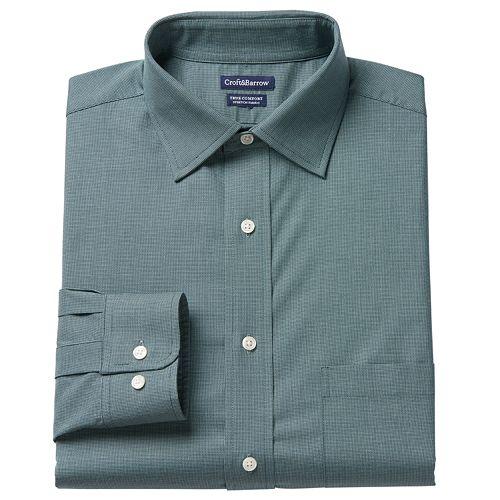 Big & Tall Croft & Barrow® True Comfort Regular-Fit Dress Shirt