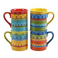 Certified International Valencia 4 pc Mug Set