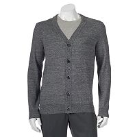 Big & Tall Apt. 9 Modern-Fit Marled Merino Cardigan Sweater