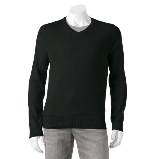 Big & Tall Apt. 9® Modern-Fit Merino V-Neck Sweater