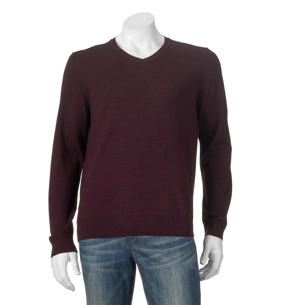 Big & Tall Apt. 9® Modern-Fit Merino V-Neck Sweater