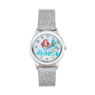 "Disney Princess Ariel ""Up for Adventure"" Kids' Leather Watch"