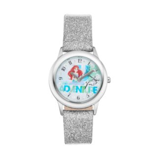 "Disney Princess Ariel ""Up for Adventure"" Kids' Leather Watch"