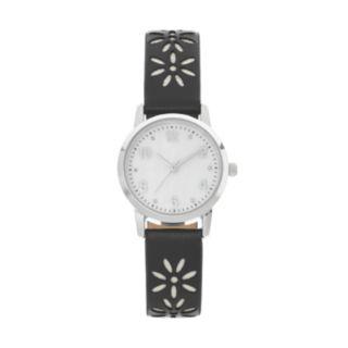 Women's Crystal Cutout Flower Watch