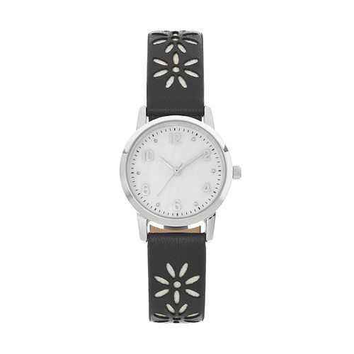 Women's Crystal Cutout Flower Watch