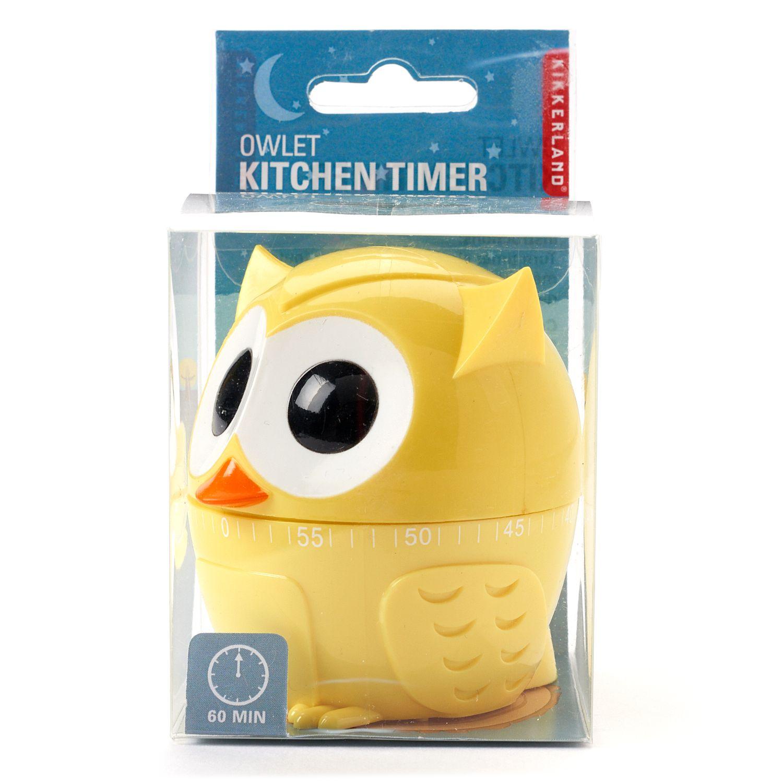 ... Kikkerland Owl Kitchen Timer
