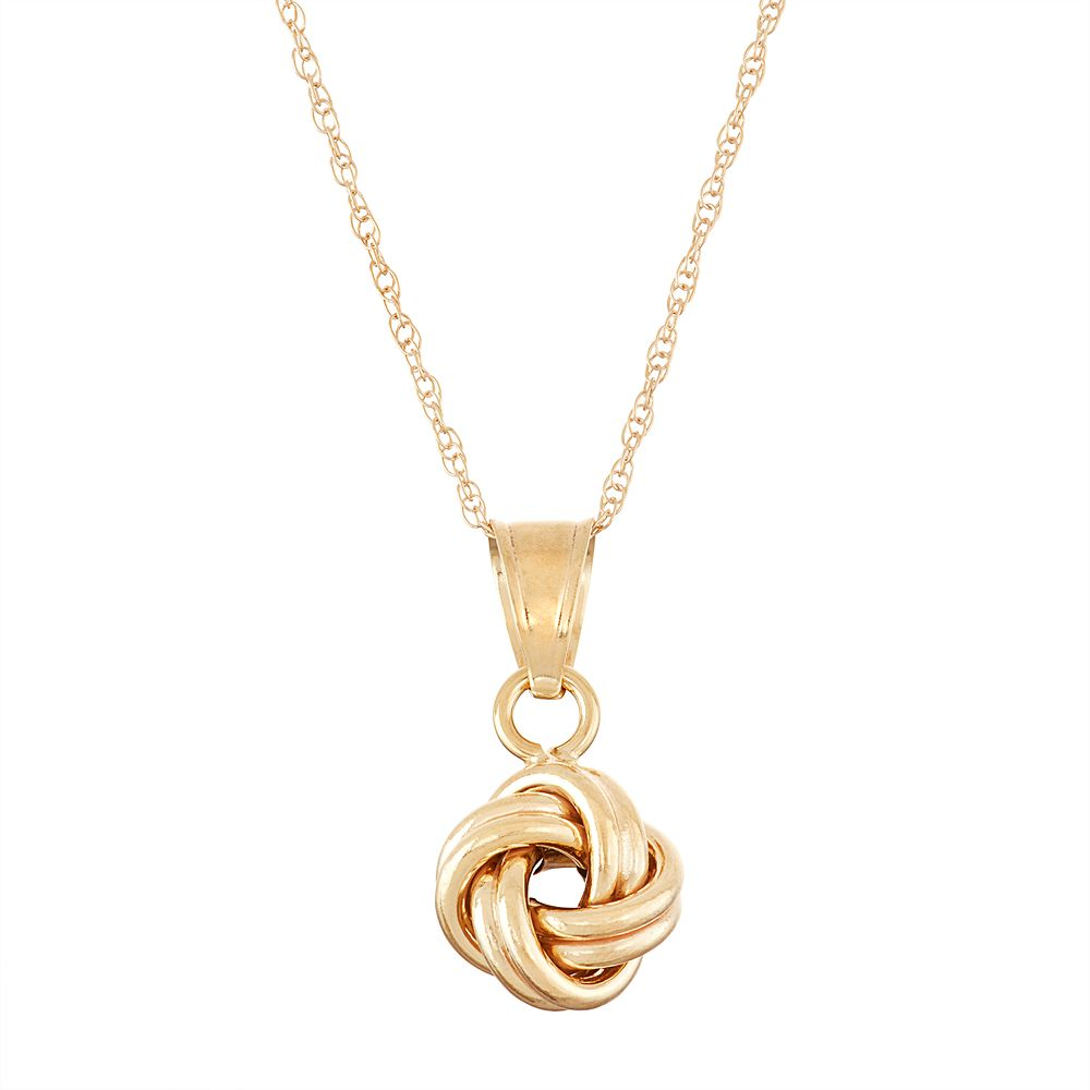 10k gold love knot pendant necklace aloadofball Choice Image