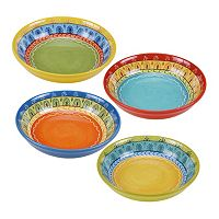 Certified International Valencia 4 pc Soup Bowl Set