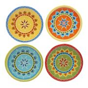 Certified International Valencia 4 pc Appetizer Plate Set