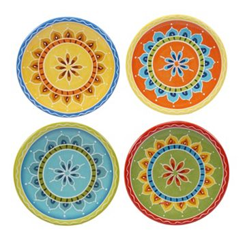 Certified International Valencia 4-pc. Appetizer Plate Set