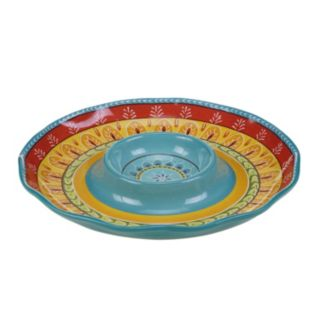 Certified International Valencia Chip & Dip Serving Platter
