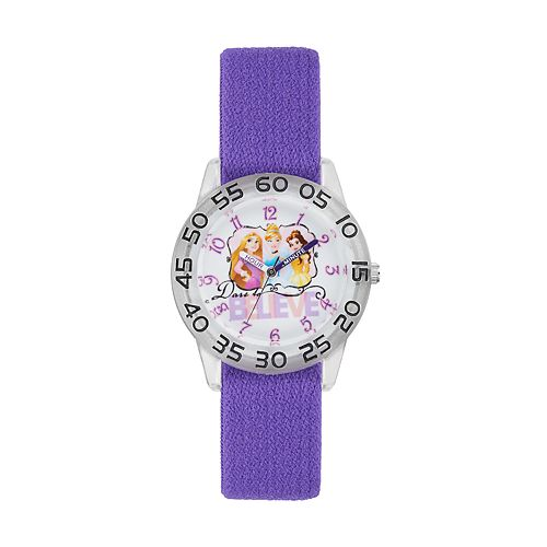 Disney Princess Cinderella, Rapunzel & Belle Kids' Time Teacher Watch
