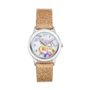 """Disney Princess Rapunzel """"Together We Are Strong"""" Kids' Leather Watch"""