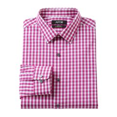 Mens Pink Plaid Dress Shirts Clothing | Kohl's