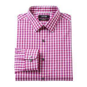 Men's Apt. 9® Extra-Slim Fit Gingham-Checked Stretch Dress Shirt