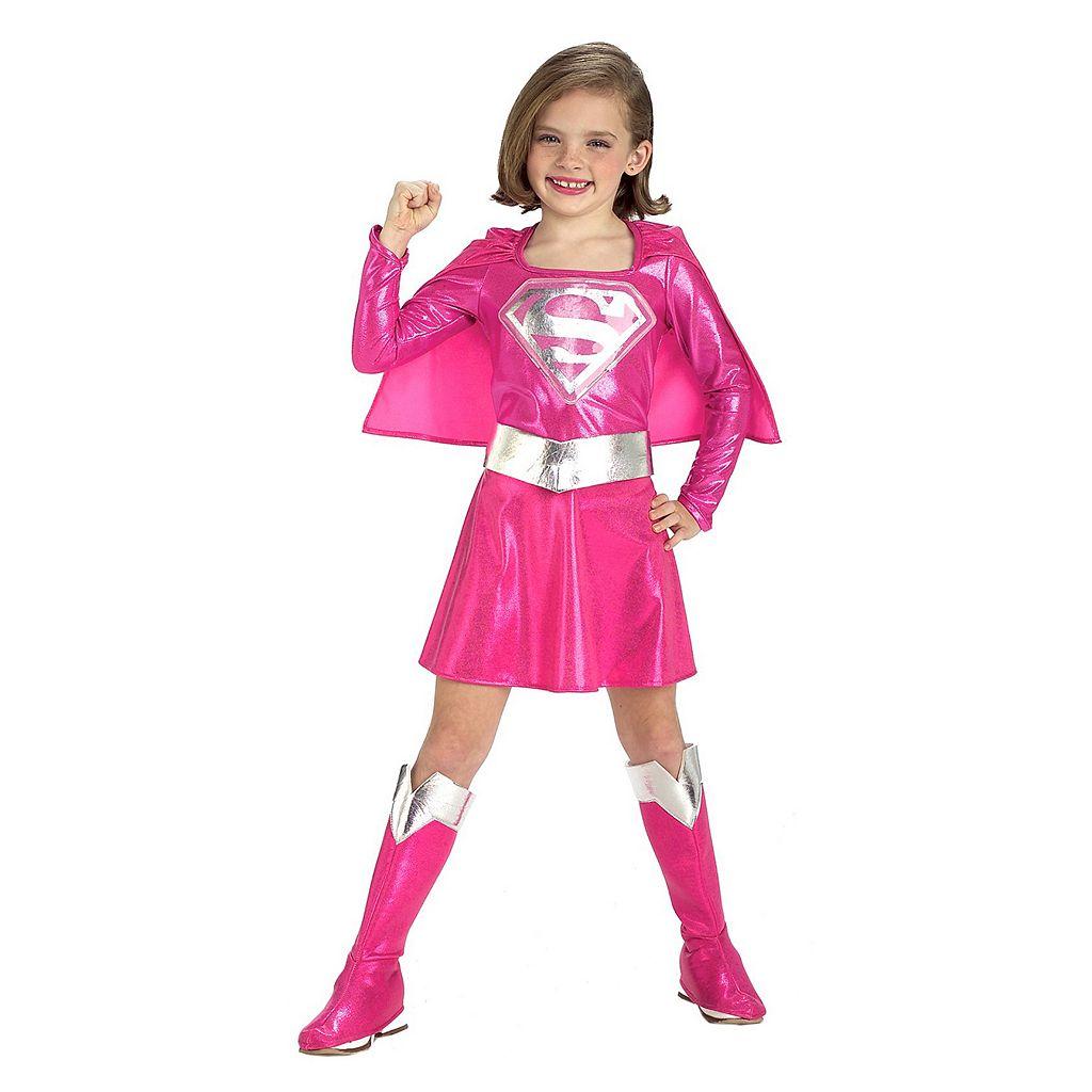 Kids Pink Super Girl Costume