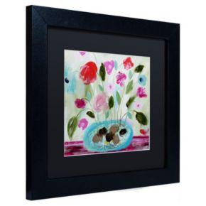 Trademark Fine Art Winter Blooms II Matted Framed Wall Art