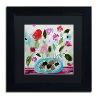 Trademark Fine Art Winter Blooms II Matted Framed Wall Art