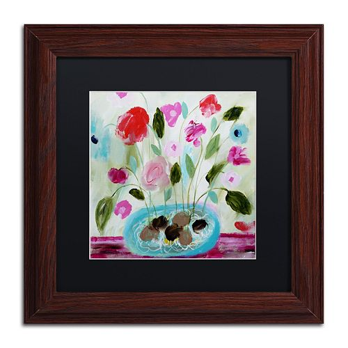 Trademark Fine Art Winter Blooms II Framed Wall Art