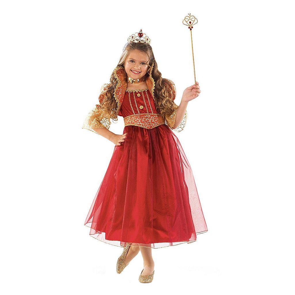 Kids Red & Gold Princess Costume