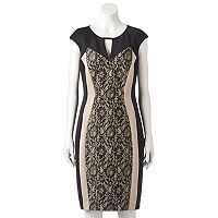 Women's Jax Colorblock Lace Sheath Dress