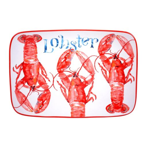 Certified International Beach House Lobster Serving Platter