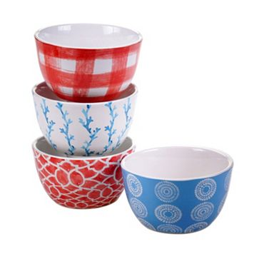 Certified International Beach House 4-pc. Ice Cream Bowl Set
