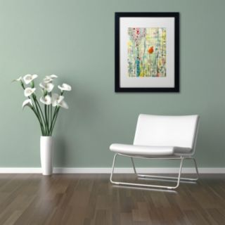 Trademark Fine Art Alpha Black Framed Wall Art
