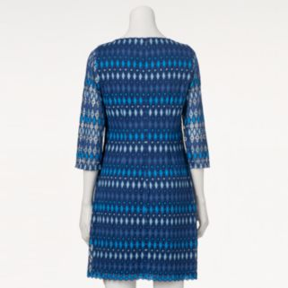 Women's Jessica Howard Print Crochet Shift Dress