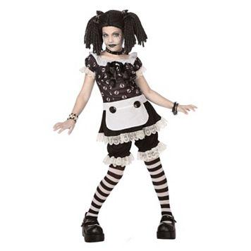 Kids Gothic Ragg Doll Costume