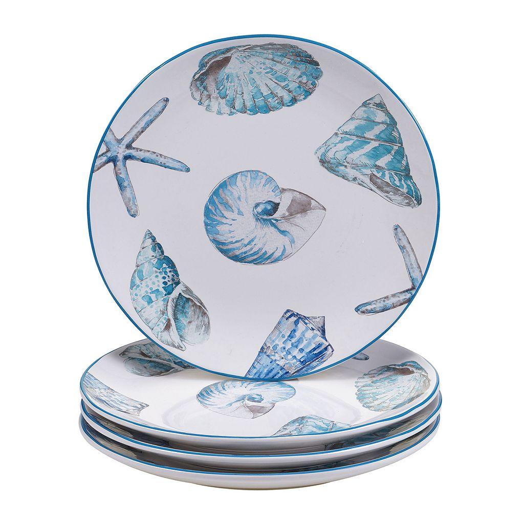 Certified International Sea Finds 4-pc. Dinner Plate Set