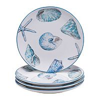 Certified International Sea Finds 4-pc. Dinner Plate Set