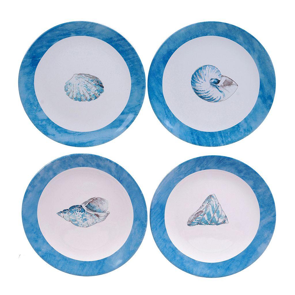 Certified International Sea Finds 4-pc. Dessert Plate Set