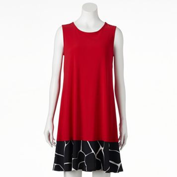 Women's MSK Contrast Shift Dress