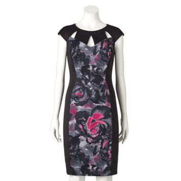 Women's Chaya Floral Colorblock Sheath Dress