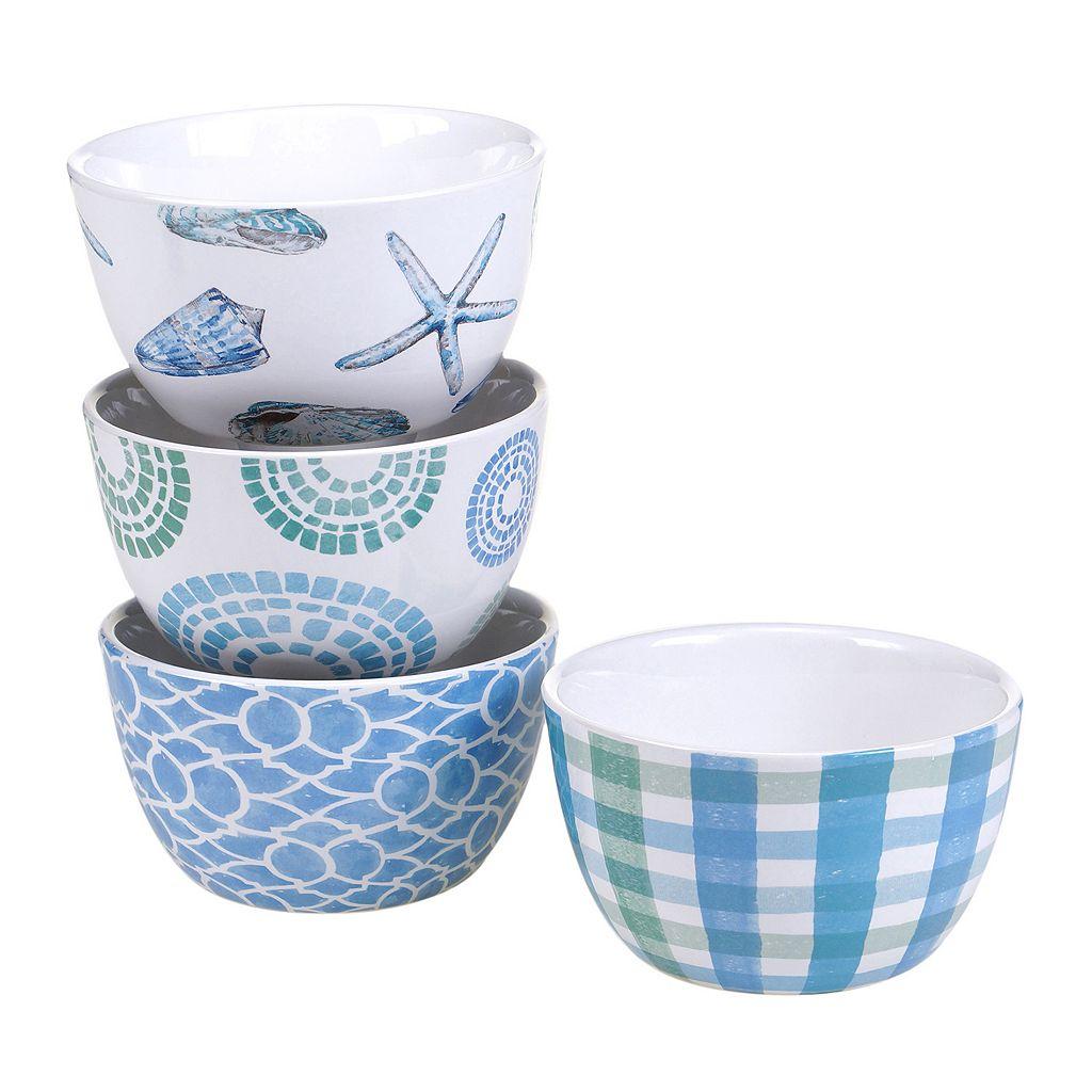 Certified International Sea Finds 4-pc. Ice Cream Bowl Set