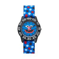 Sesame Street Grover Kids' Polka Dot Time Teacher Watch