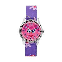 Sesame Street Abby Cadabby Kids' Floral Time Teacher Watch
