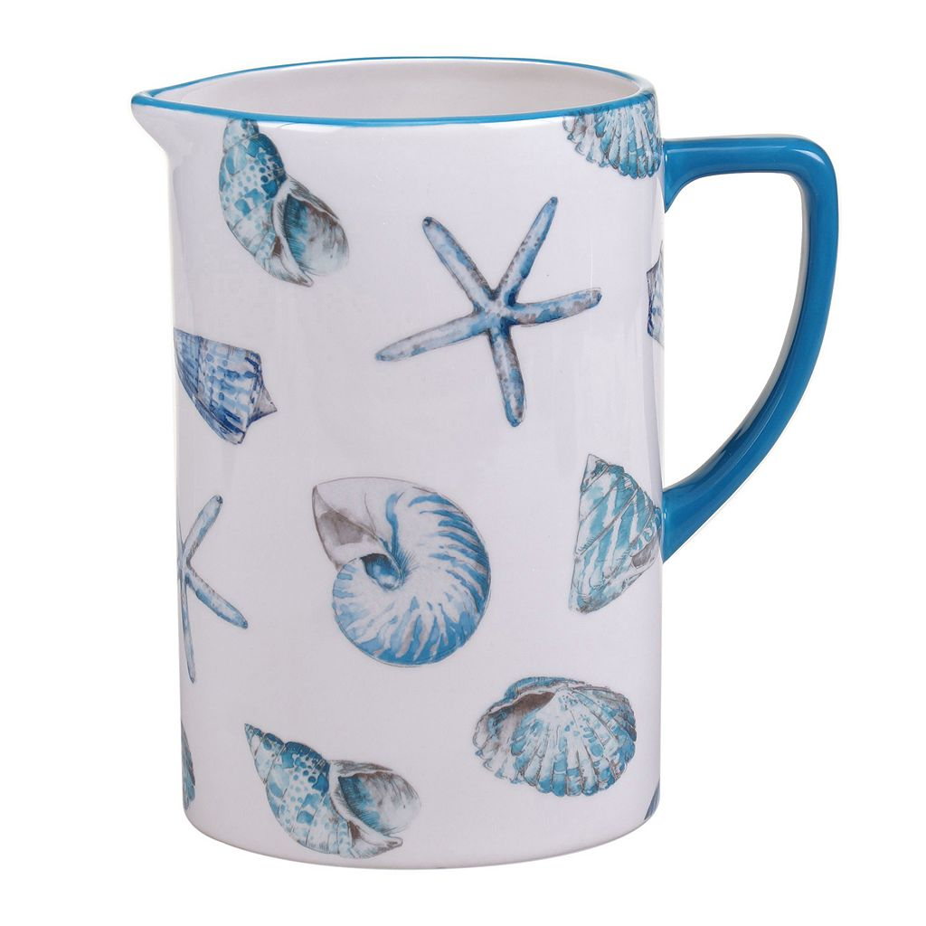 Certified International Sea Finds 2.5-qt. Pitcher