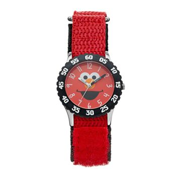 Sesame Street Elmo Kids' Red Time Teacher Watch