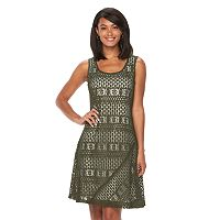 Women's Ronni Nicole Abstract Lace Shift Dress