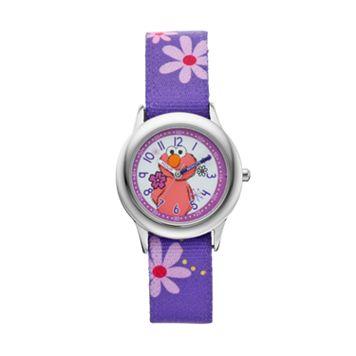 Sesame Street Elmo Kids' Purple Time Teacher Watch