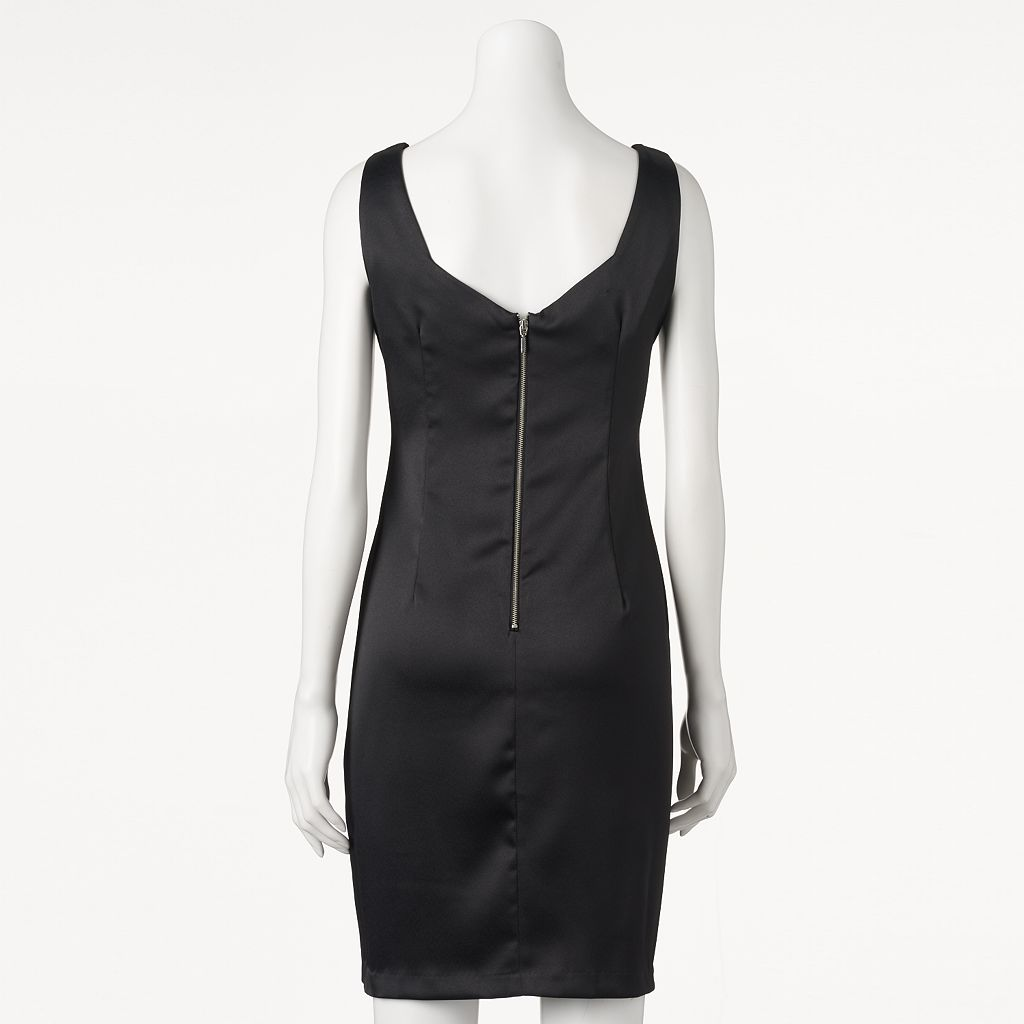 Women's Ronni Nicole Embellished Satin Sheath Dress