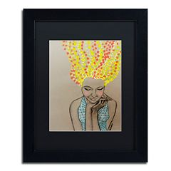 Trademark Fine Art Miss Sunshine Matted Framed Wall Art