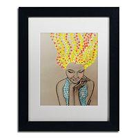 Trademark Fine Art Miss Sunshine Matted Framed Wall Art