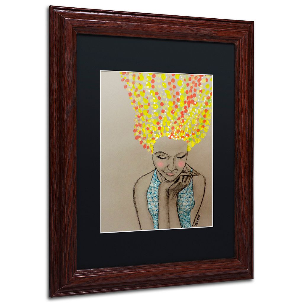 Trademark Fine Art Miss Sunshine Framed Wall Art