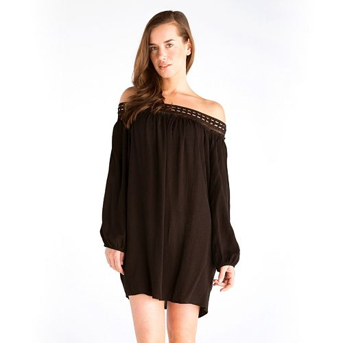 5636913f5c Women's Hawaiian Tropic Crinkle Off-the-Shoulder Cover-Up