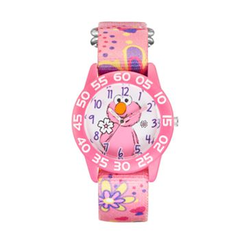 Sesame Street Elmo Kids' Pink Time Teacher Watch