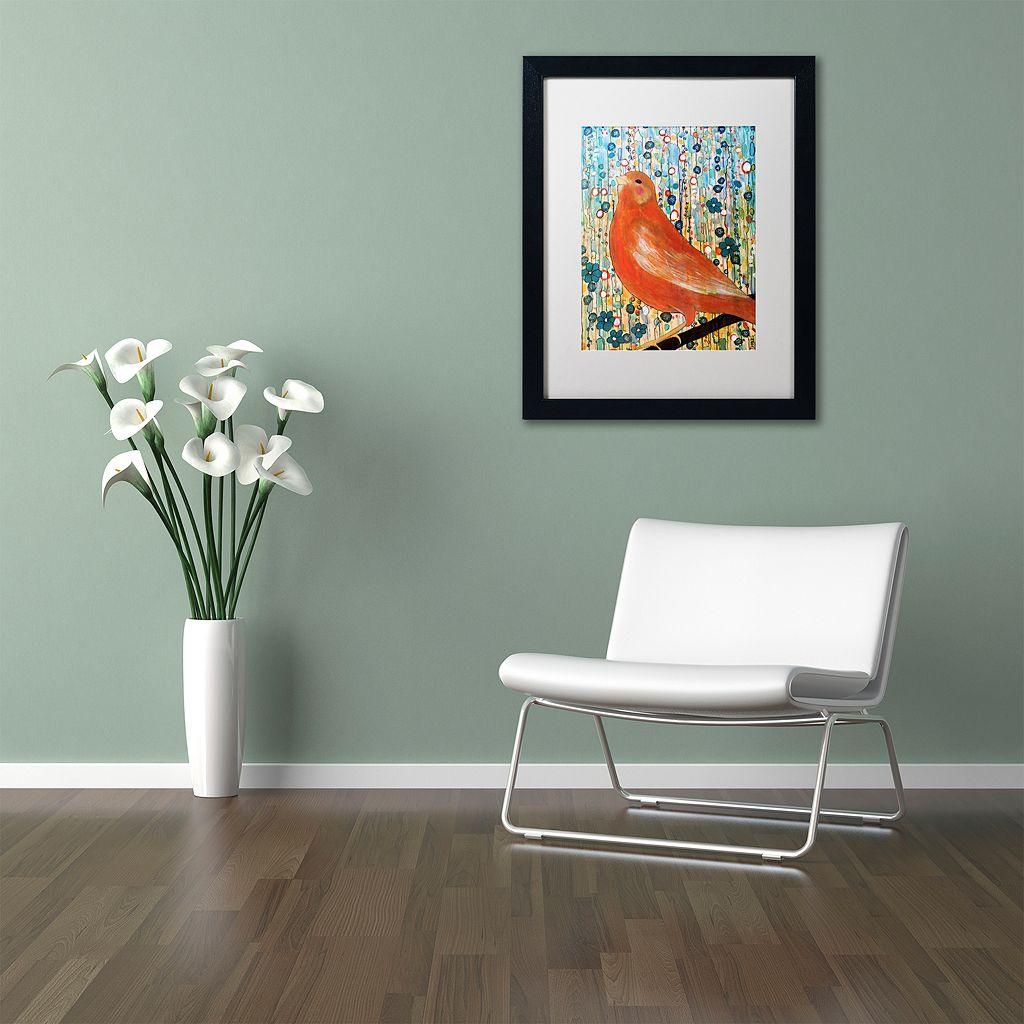Trademark Fine Art Serenade Matted Framed Wall Art